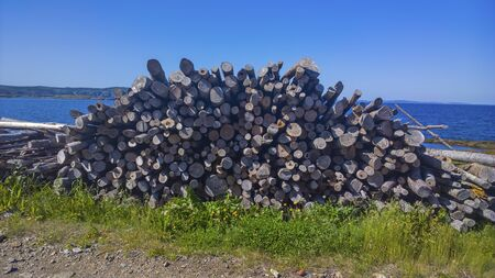 An old fashion wood pile