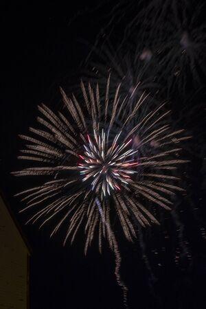Bright fireworks in the night sky Reklamní fotografie