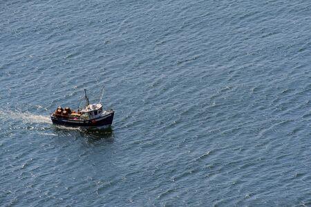 A marine vessel at sea