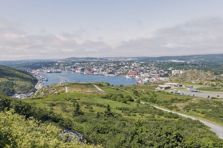 St. Johns shipping harbour during the day