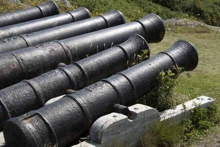 Old cannons pointing out to sea