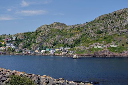 St Johns harbour on a sunny day