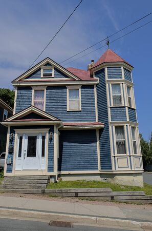 Old wooden houses in St John's. Stock Photo