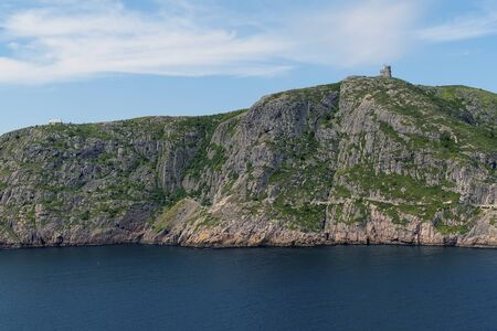Signal Hill in St. Johns  harbour during the day