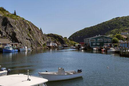 Boats in a Bay Фото со стока