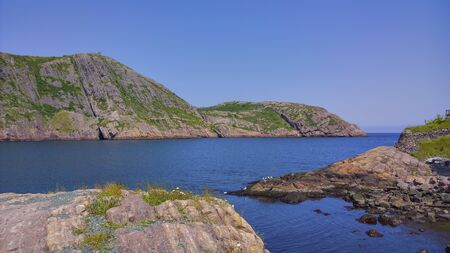 St John`s harbour in the summer time.