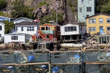 An old fashion wooden lobster traps