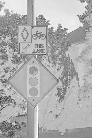 A black and white sketch of a sign