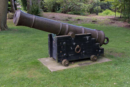 An old weathered iron cannon