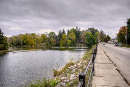 A calm fall day by the lake.