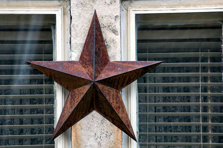 A star on the window Stock Photo