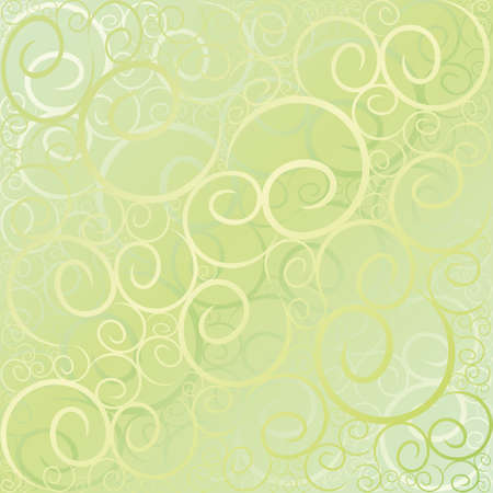 Swirl green pattern background Stock Vector - 3122651