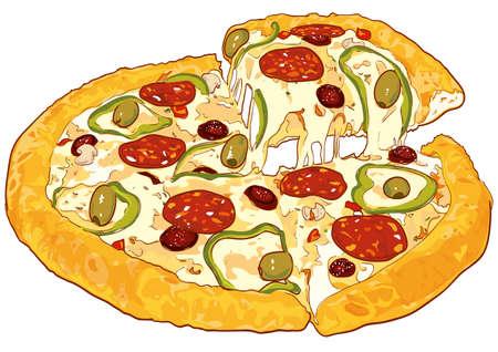 Verse pizza Vector Illustratie