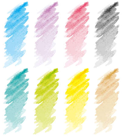 paint swatch: Pastel strokes