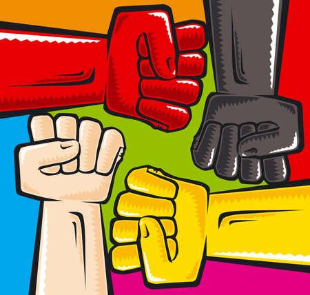 rassismus: Anti-Rassismus  Illustration