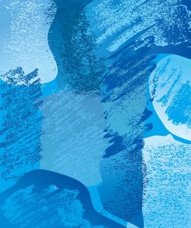 Composition blue Vector