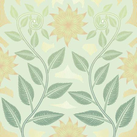 Flower floral pattern color Vector