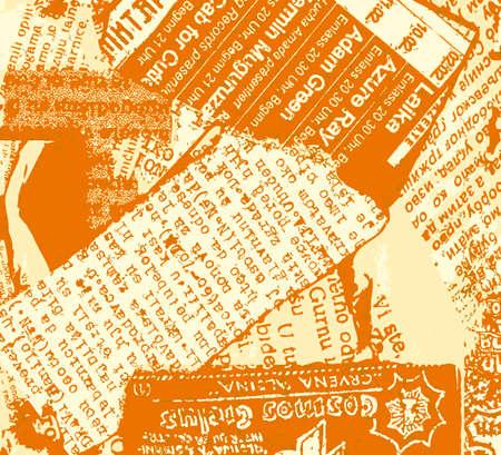 Newspaper grunge orange Stock Vector - 3144576
