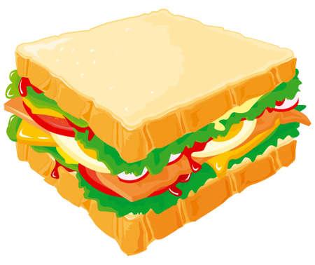 Club Sandwich Vecteurs