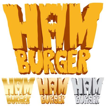 food industry: Hamburger logo Illustration