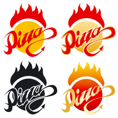 flame logo: Hot Devil Pizza