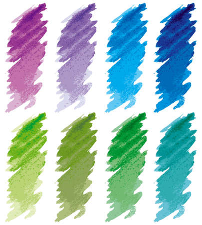 paint swatch: Strokes set 2