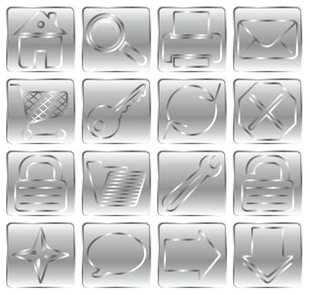 shortcuts: Silver web basic icon set.