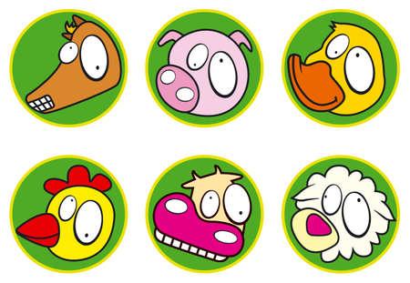 Farm icons color Vector