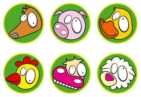 Farm icons color Vector