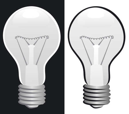 incandescent: Light bulb b&w Illustration