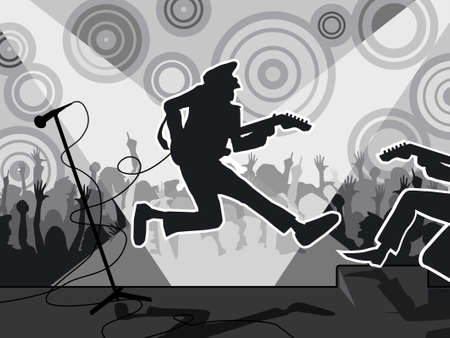 rock guitarist: Concert