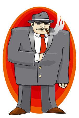 Gangster red tie Stock Vector - 3187969