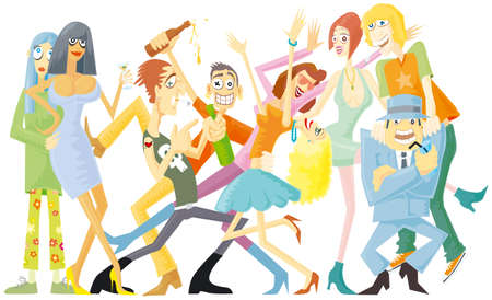 Great party isolated Vector