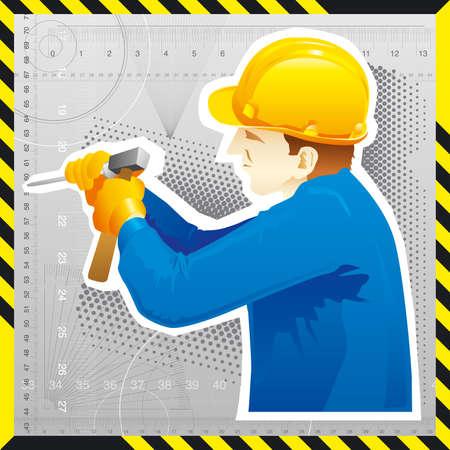 reconstruction: Man at work