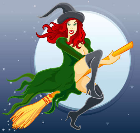 attractive: Witch Illustration