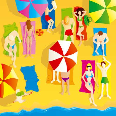 Beach scene Stock Vector - 3237525