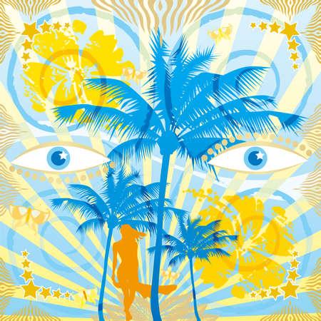 Blue eyes Vector
