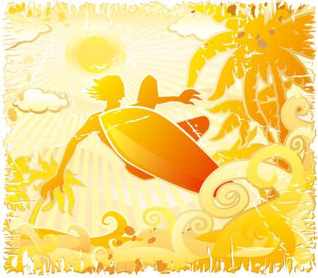 surfer: Grunge surfer