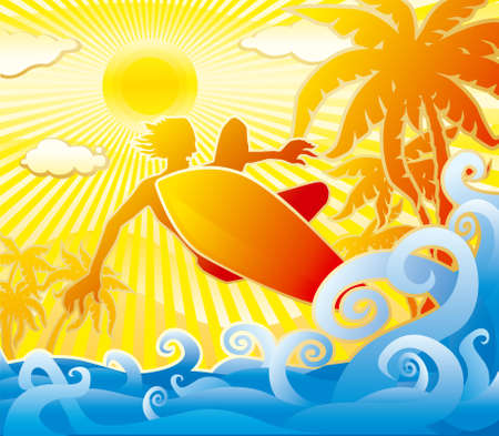Surfer Stock Vector - 3237543