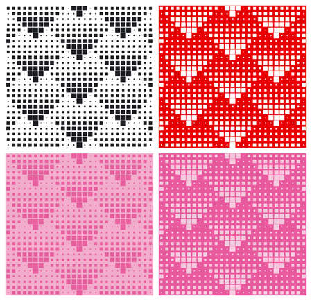 repeat square: Hearts halftone pattern