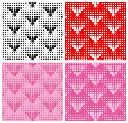 Hearts halftone pattern