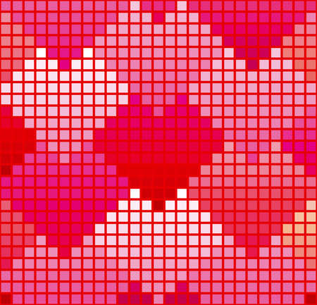 Pink heart-shaped pattern