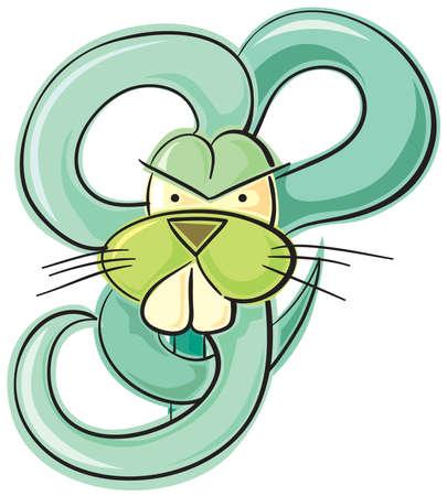Green bunny Vector
