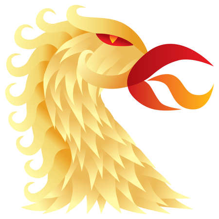 Golden bird Vector