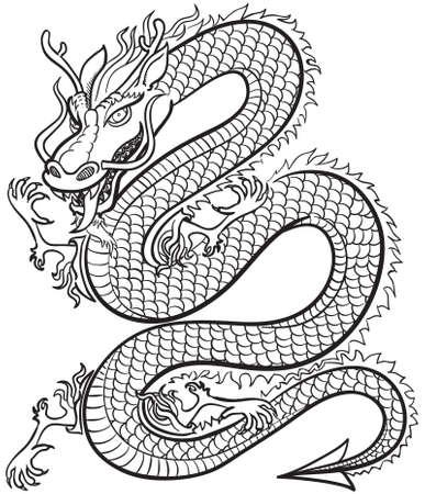 Great Dragon b&w Stock Vector - 3295500