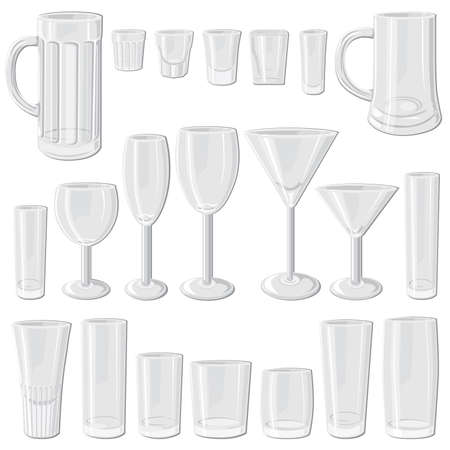 shot glass: Glass set