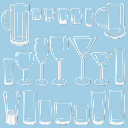 Transparent glass set Stock Vector - 3295485