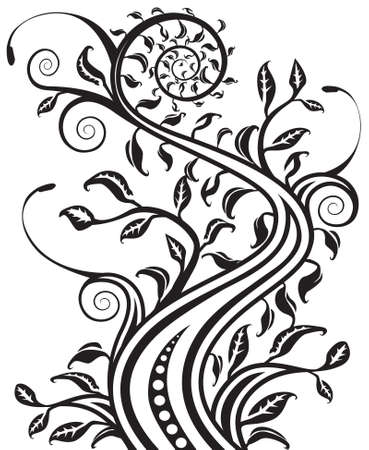 bw: Floral b&w   Illustration