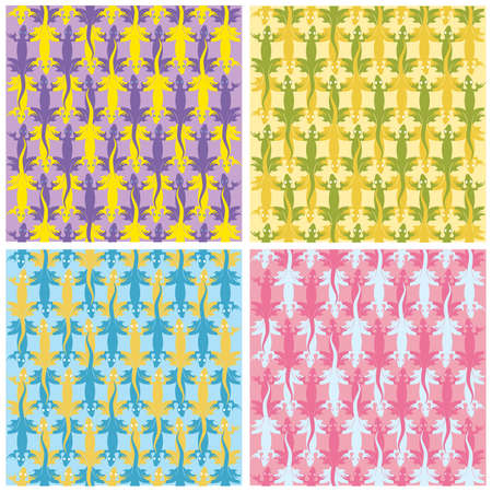 coldblooded: Lizards color patterns