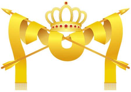 Crown & arrows Vector